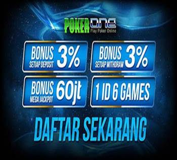 Situs Poker Promo Bonus POKER1ONE